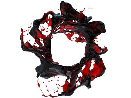 Dark red blood splash Stock Photo