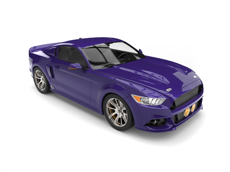 Indigo Purple Muscle Car Stock Photo Picture And Royalty Free Image