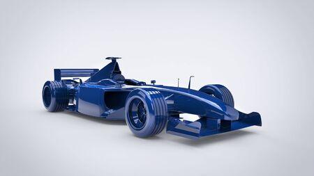 Cool deep blue - formula racing car