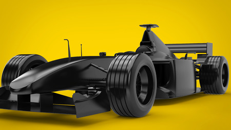 All black formula racing car