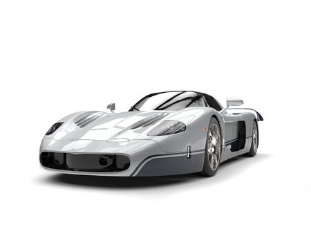 coupe: Silver awesome concept super car Stock Photo