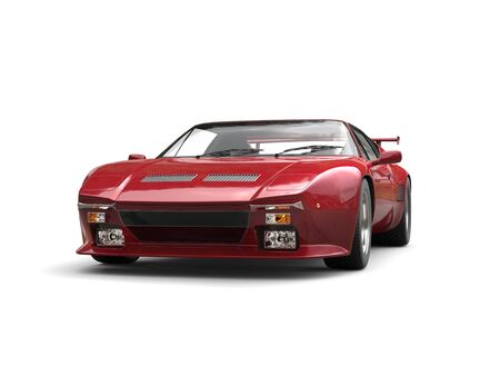 car tire: Cherry red eighties sports car