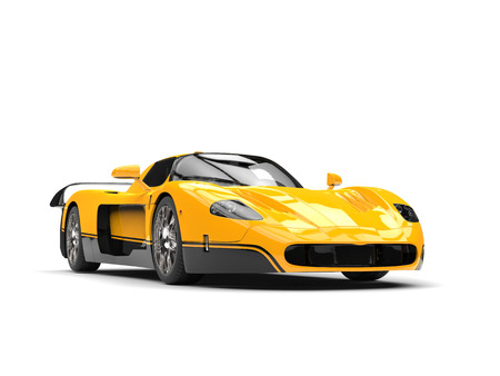 Black and yellow awesome concept super car Stock Photo