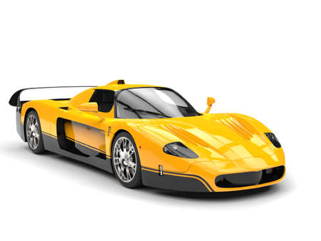 coupe: Black and yellow awesome concept super car - beauty shot
