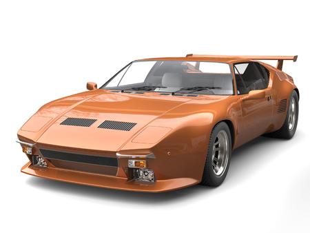 Sandy brown eighties sports car Stock Photo