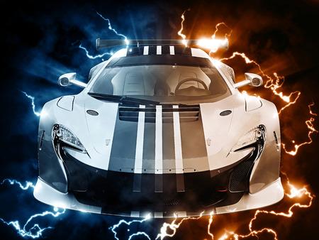 car tire: Urban sportscar bursting with electricity