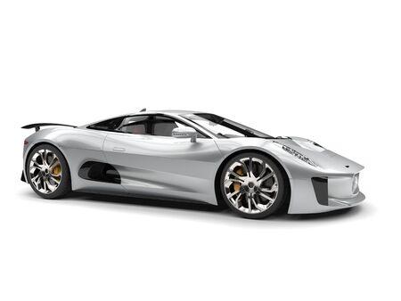 coupe: Super silver elegant sports car Stock Photo