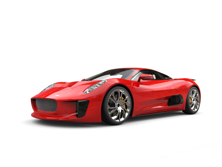Scarlet red elegant sports car