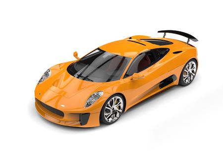 Sandy brown super sports car