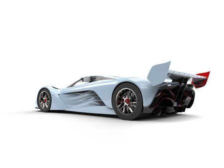 Beau blue concept super car - back view