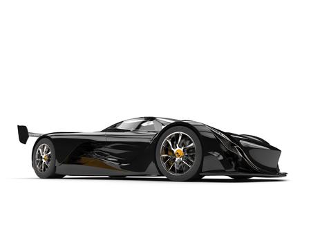 Gunmetal black racing super car - studio shot Stock Photo