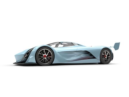 Beau blue concept super car