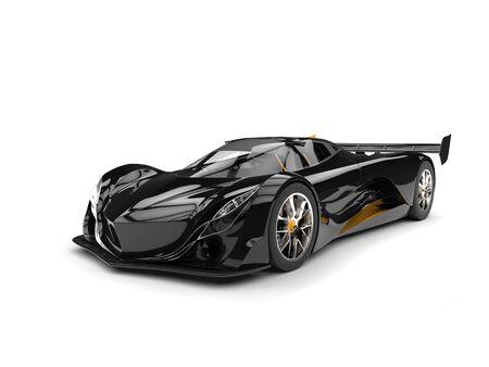 Gunmetal black racing super car Stock Photo