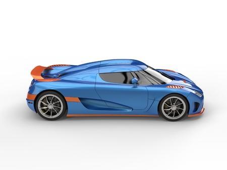 Sublime blue and orange metallic race concept car Stock Photo