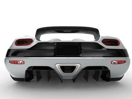 car tire: Modern sports car concept  - back view