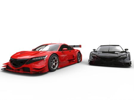 car tire: Black and red modern sport concept cars