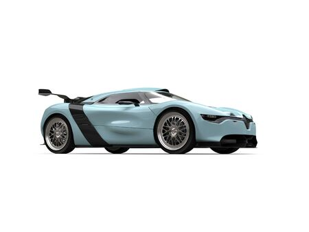 car tire: Super sports car - waterspout blue color - studio shot