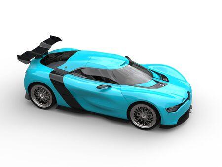 cerulean: Vivid cerulean - super sports car