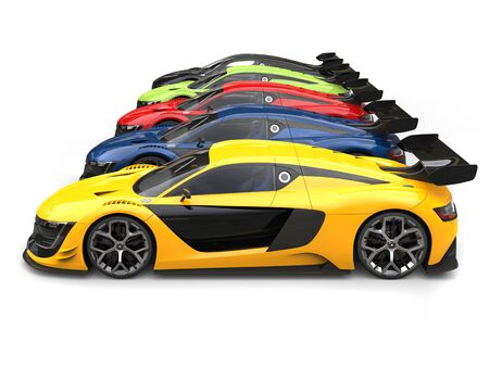 car tire: Amazing super sports cars - side by side
