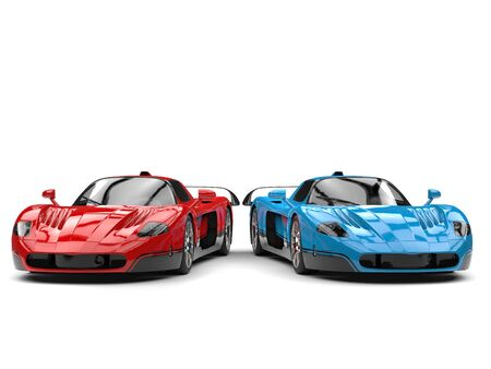 Gorgeous concept sports cars - red and blue with black details