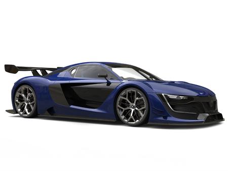 Ultramarine super sports race car - beauty shot Stock Photo