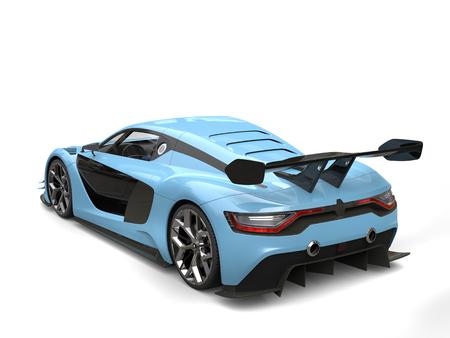 Refroidir voiture bleue course moderne Banque d'images - 80579286