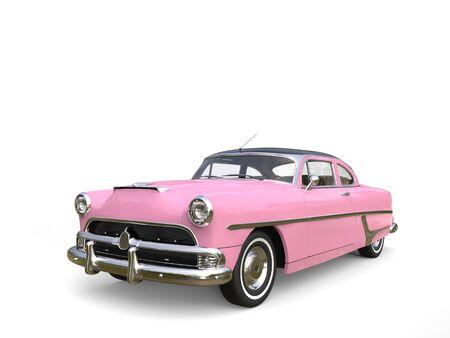 restored: Metallic warm pink restored vintage car