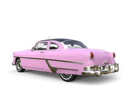 restored: Metallic pink restored vintage car