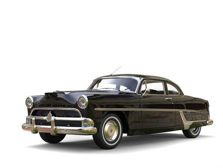 restored: Shiny black restored vintage car Stock Photo