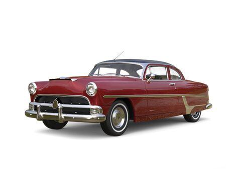 restored: Cornell red restored vintage car