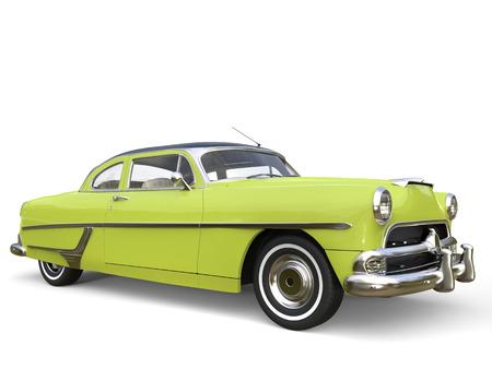 restored: Electric green super cool vintage car - beauty shot