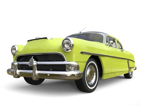 restored: Electric green super cool vintage car