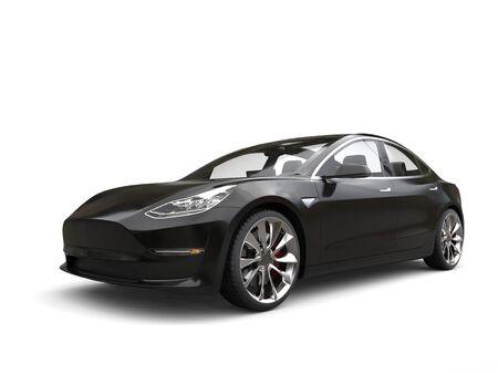 Gunmetal black modern family car Stock Photo