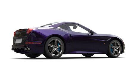 rim: Amazing metallic purple luxury sports car - side view