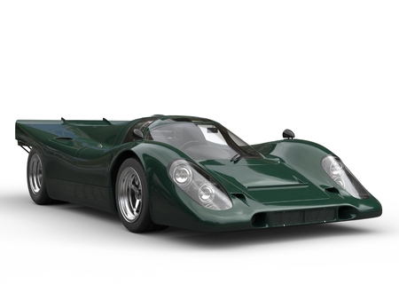 car speed: English green vintage race super car