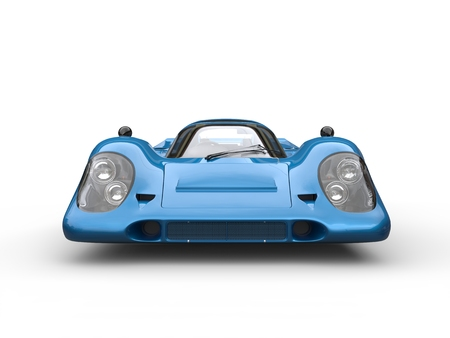 rim: Bright navy blue vintage race super car
