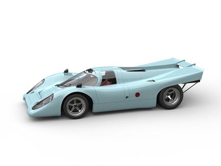 chrome: Blue lagoon old school race car Stock Photo