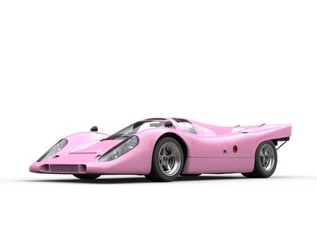 rim: Brilliant rose vintage race car