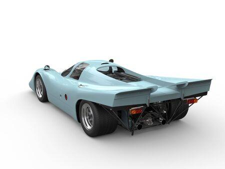 rim: Bright blue vintage race car