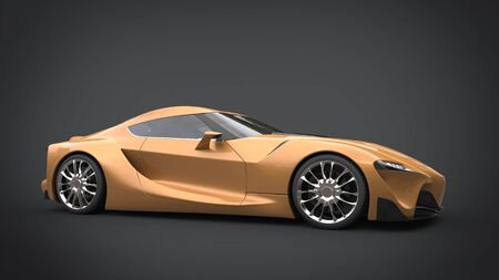 rim: Beautiful golden super sports car
