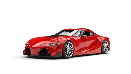 Deep red modern super sports car