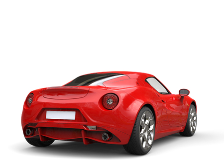 Carnelian red sport concept car - tail view Stok Fotoğraf