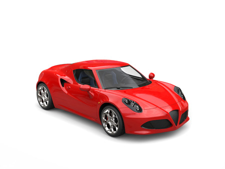 Carnelian red sport concept car - studio shot
