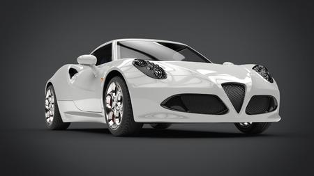Sublime modern white super sports car