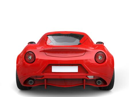 Carnelian red sport concept car - back view Stock Photo