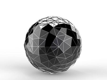 Black metal construct sphere