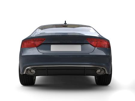 Dark slate gray modern business car - back view