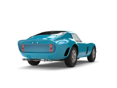微妙なターコイズ ブルーのビンテージのスポーツカー