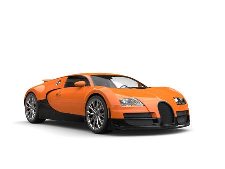 Hot orange modern super sports car - studio shot