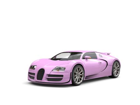 フラミンゴ ピンク現代スーパー スポーツ車 - スタジオ撮影